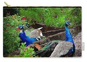 Peacocks In The Garden Carry-all Pouch