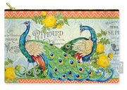 Peacocks In The Rose Garden Carry-all Pouch