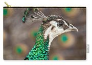 Peahen And Peacock Carry-all Pouch