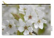 Pear Tree White Flower Blossoms Carry-all Pouch
