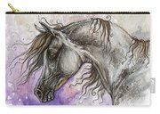 Pearl Arabian Horse Carry-all Pouch