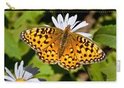 Pearl Border Fritillary Butterfly On An Aster Bloom Carry-all Pouch