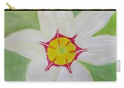 Pearl White Flower Carry-all Pouch