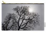 Pearly Silver Filigree On The Sky  Carry-all Pouch by Georgia Mizuleva