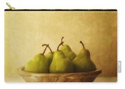 Pears In A Wooden Bowl Carry-all Pouch