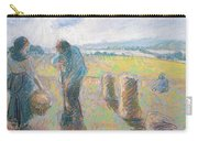 Peasants In The Fields Carry-all Pouch by Camille Pissarro