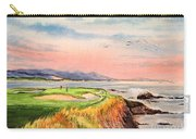 Pebble Beach Golf Course Hole 7 Carry-all Pouch by Bill Holkham