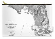Pebble Beach To  Carmel Mission Carmel River 1876 Carry-all Pouch