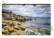 Pebbled Beach Under Dramatic Skies Number Two Carry-all Pouch