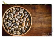 Pebbles In Wood Bowl Carry-all Pouch