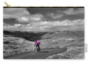 Pedalling The Pass In Pink  Carry-all Pouch