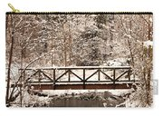 Pedestrian Bridge In The Snow Carry-all Pouch