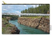 Pedestrian Bridge Over Yukon River In Miles Canyon Near Whitehorse-yk Carry-all Pouch