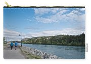 Pedestrian Walkway Along Yukon River In Whitehorse-yk  Carry-all Pouch