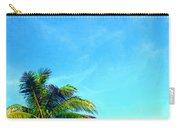 Peekaboo Palm - Tropical Art By Sharon Cummings Carry-all Pouch