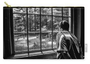 Peering Out The Window Bw Carry-all Pouch