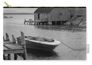 Peggys Cove In Black And White Carry-all Pouch