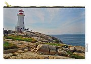 Peggy's Cove Lighthouse On The Rocks-ns Carry-all Pouch