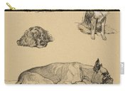 Peke, Collie, Spaniel And German Boxer Carry-all Pouch