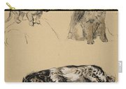 Pekinese, Chow And Spaniel, 1930 Carry-all Pouch