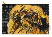 Pekingese - Worded Carry-all Pouch