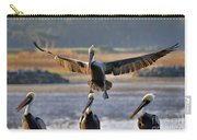 Pelican Coming In For Landing Carry-all Pouch by Dan Friend