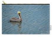 Pelican Drifting On Rippled Water Carry-all Pouch