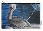 Pelican On A Boat Carry-all Pouch