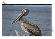 Pelican On Driftwood Carry-all Pouch