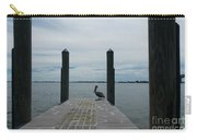 Pelican On The Dock Carry-all Pouch