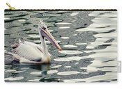 Pelican With Abstract Water Reflections I Carry-all Pouch