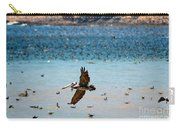 Pelicans Flocking On The Ocean Carry-all Pouch
