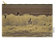 Pelicans In The Surf Carry-all Pouch