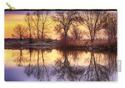 Pella Crossing Sunrise Reflections Hdr Carry-all Pouch