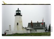 Pemaquid Point Light In The Rain - Maine Carry-all Pouch
