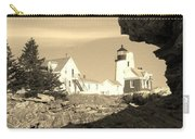 Pemaquid Point Sepia Carry-all Pouch