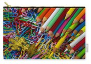 Pencils And Paperclips Carry-all Pouch