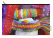 Penguin Happy Holidays Photo Art Carry-all Pouch