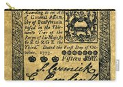 Penn. Banknote, 1773 Carry-all Pouch