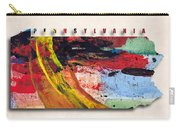 Pennsylvania Map Art - Painted Map Of Pennsylvania Carry-all Pouch