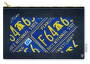 Pennsylvania State License Plate Map Carry-all Pouch by Design Turnpike