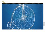 Penny-farthing 1867 High Wheeler Bicycle Blueprint Carry-all Pouch