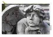 Pensive Angel Detail Monumental Cemetery Milan Italy Carry-all Pouch