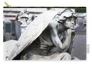 Pensive Angel Monumental Cemetery Milan Italy Carry-all Pouch