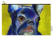 Pensive French Bulldog Portrait Carry-all Pouch