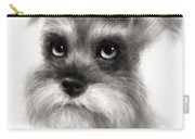 Pensive Schnauzer Dog Painting Carry-all Pouch