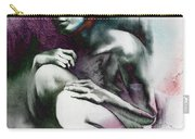 Pensive With Texture Carry-all Pouch by Paul Davenport