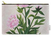 Peonies And Monarch Butterfly Carry-all Pouch