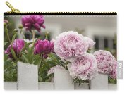 Peonies On A Picket Carry-all Pouch