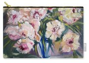 Peons In Blue Vase Carry-all Pouch